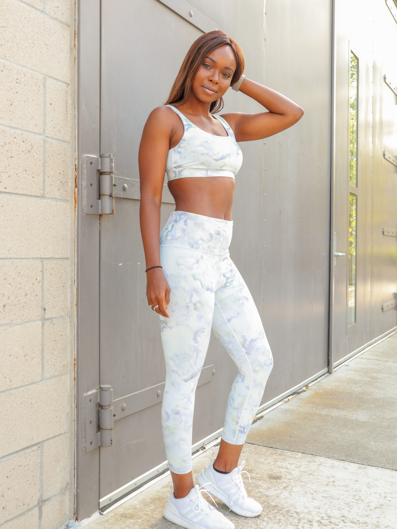 Athleta Review: Elation Snow Dye 7/8 Tight & Exhale Bra