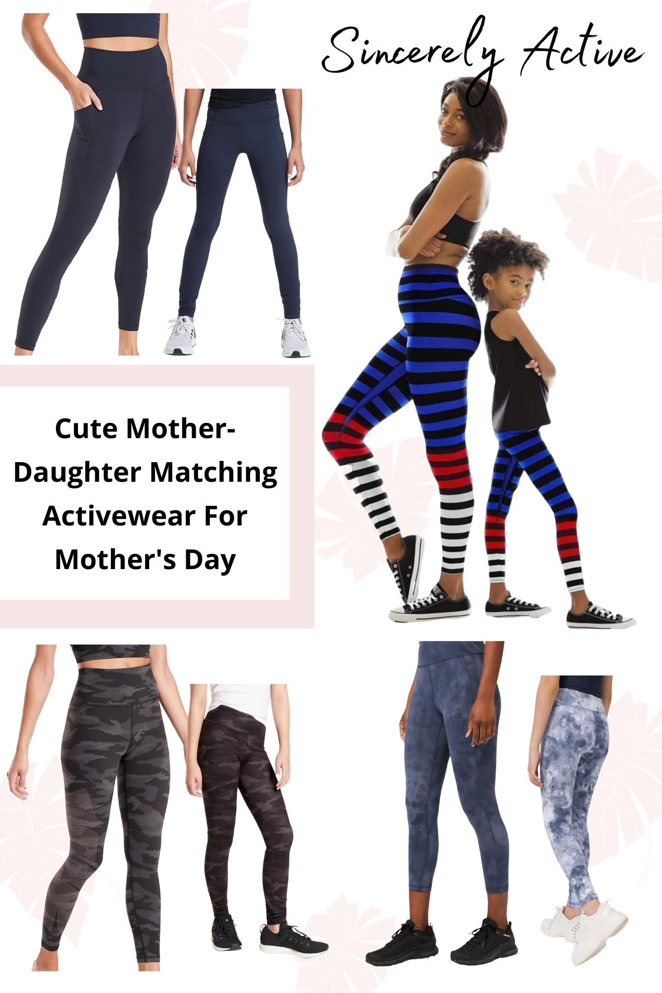 Mother-Daughter Matching Activewear Styles For Mother's Day