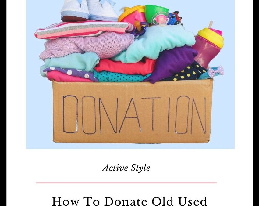 how to donate used workout clothes
