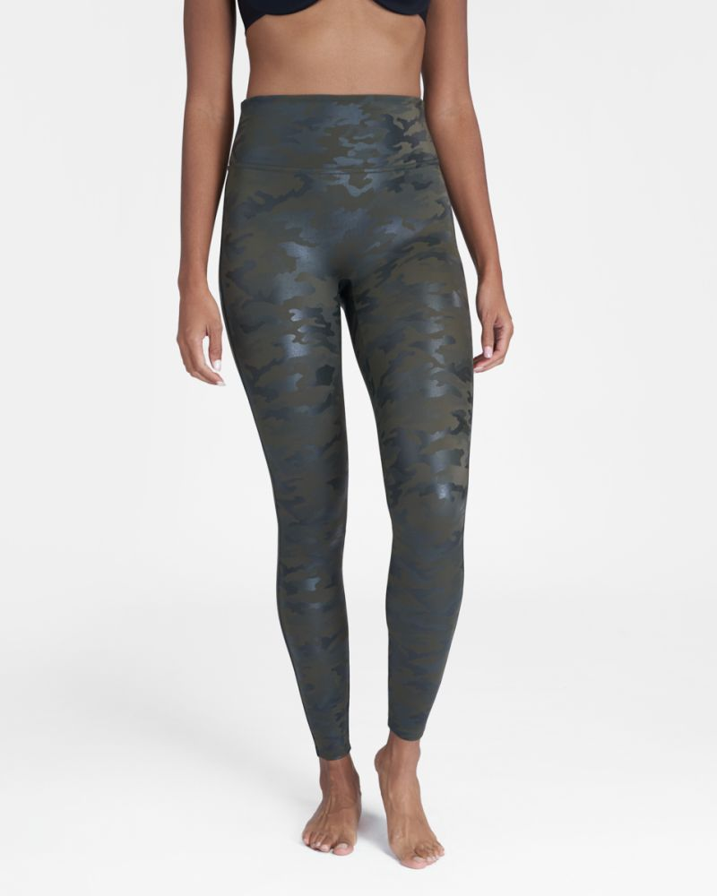 Spanx faux leather Camo legging review