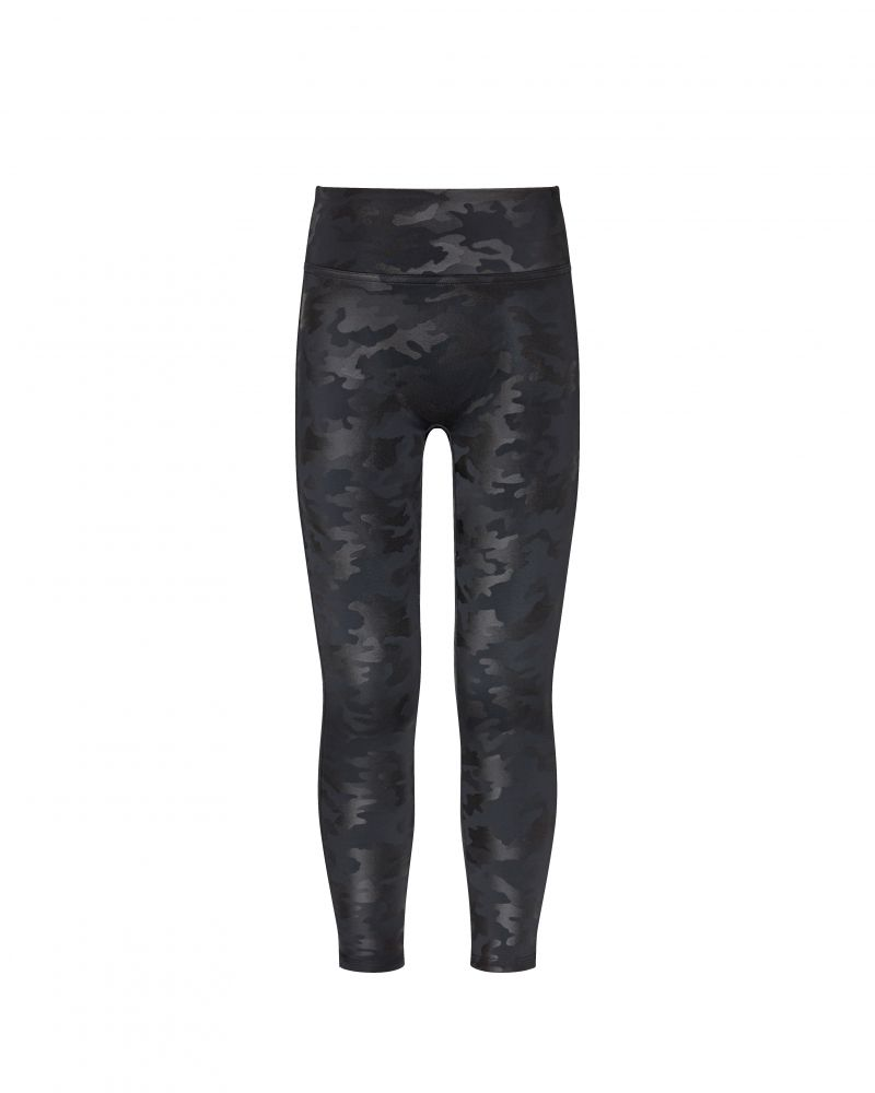 Spanx faux leather Camo girls legging review